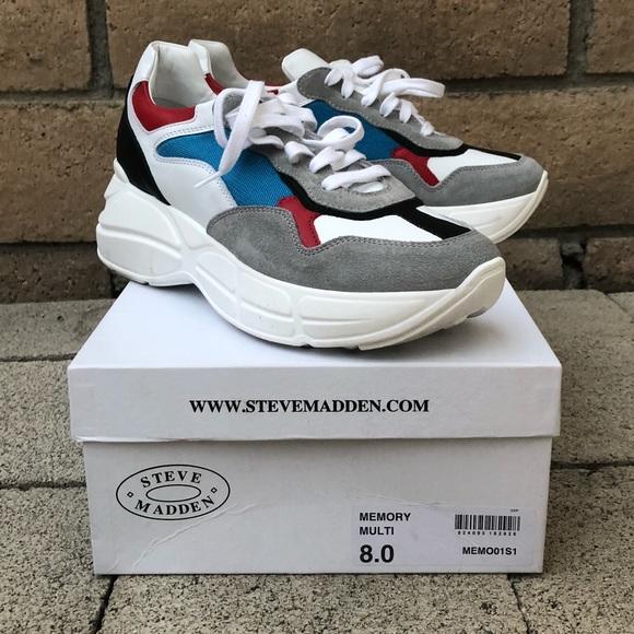 f31524c9649 Steve Madden MEMORY multi dad platform sneaker. M 5b7846e47ee9e2fbeee06c88